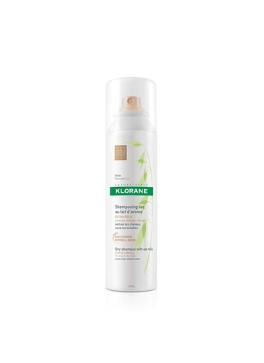 Klorane KLORANE Shampooing sec extra-doux au lait d'avoine TEINTE 150 ml - Yulaf sütlü RENKLİ kuru şampuan (sık kullanım) Renksiz